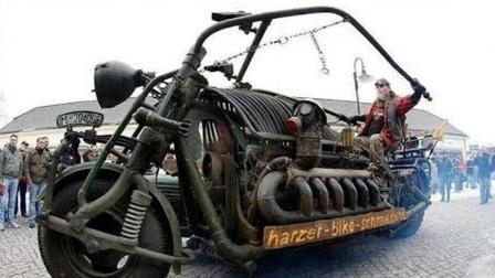一辆装有坦克发动机的摩托车, 它的重量已经打破吉尼斯世界纪录
