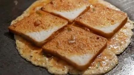 印度美食, 煎鸡蛋面包, 制作过程就能让你流口水!