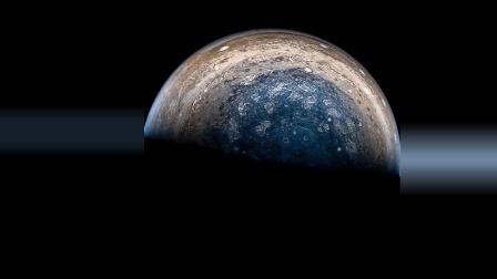 来看一下, 朱诺号木星探测器所拍摄的木星细节