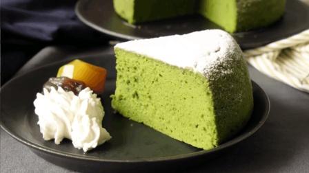 用电饭煲就能制作的抹茶蛋糕, 做法简单又好吃