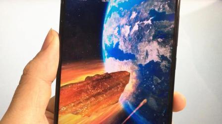 手机动态壁纸已经out了,快试试星空陨石主题,3D立体超逼真