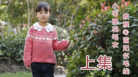 【51】雪妃尔毛线小羊提花毛衣编织视频教程上集