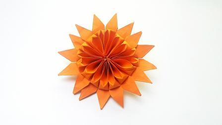 折向日葵花没那么复杂,折纸王子教你迅速搞定!
