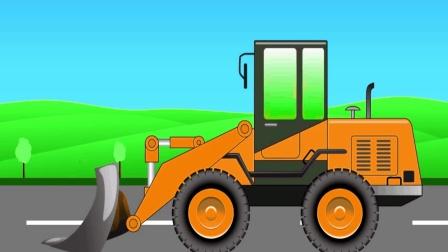 组装推土机 3D动画模拟组装工程车