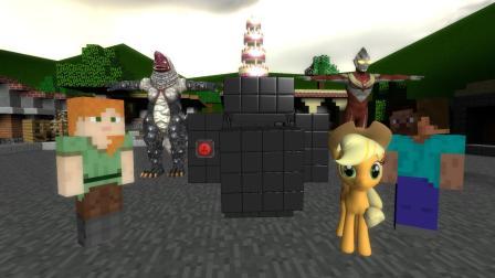 GMOD游戏小马驹能拿到箱子上面的四层蛋糕吗
