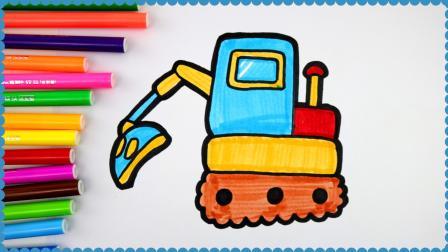 儿童简笔画 幼儿简笔画基础,宝宝最喜欢的挖掘机