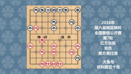 2018年第八届杨官璘杯全国象棋公开赛第7轮, 张铭先负黄仕清