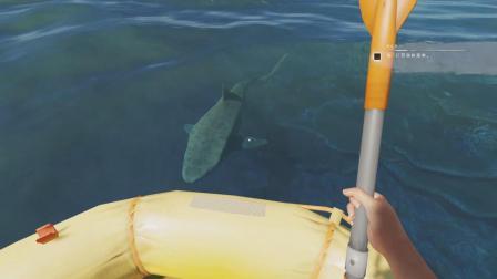 荒岛求生11: 鲨鱼一直围着皮筏转, 是想吃我吗?