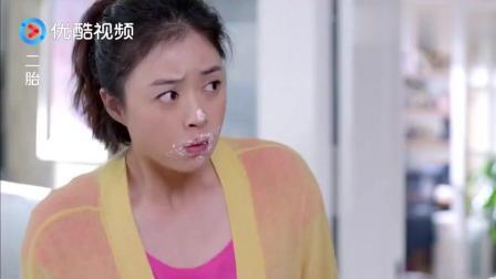 吃货妈妈怀孕, 家里不让她乱吃, 结果自己偷偷弄一蛋糕在厕所吃