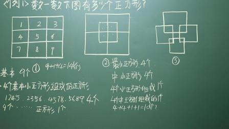 一年级奥数 数正方形 第二十五讲