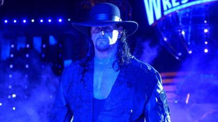 WWE送葬者霸气上场 对手惊慌失措倒退几步 网友: 这气氛太吓人