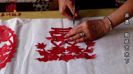 非遗剪纸艺术, 74岁阿姨活出精彩, 看她的剪纸是一种享受