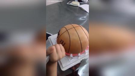 篮球蛋糕制作流程!