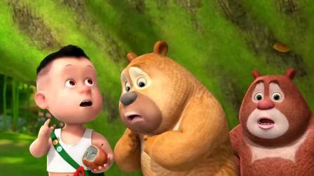 熊出没熊熊乐园 小朋友们一起吃又大又红的苹果! [儿童动漫]