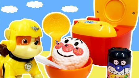 兜糖面包超人玩具 面包超人饭团电饭煲玩具套装视频