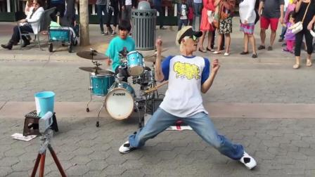 世界街舞冠军南贤俊, 在街头即兴舞蹈, 不愧是街舞达人啥都会!