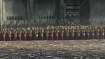 《霍比特人》军队混战厮杀片段, 整个城市充满了血腥的味道