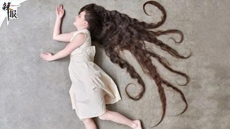 发好不洗就行? 女子留2米长发