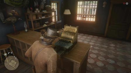 荒野大镖客2第8期: 洗劫了一个枪店, 获得了一把步枪, 抢了个黄金手枪