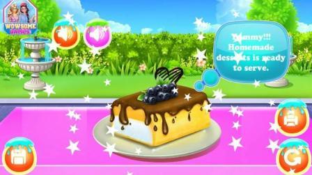 益智动手小游戏做蛋糕, 小朋友门快来跟我一起做甜品吧, 还有好吃的甜甜圈哦