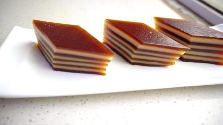 特色糕点——千层椰汁马蹄糕的做法, 做法简单, 细腻Q弹, 椰香十足, 家人特别喜欢