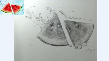 原来素描中的水滴质感是这样体现的! 一点也不难, 看了你就懂了