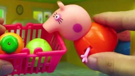 小猪佩奇家的多层大房子玩具, 粉红猪小妹儿童过家家小故事