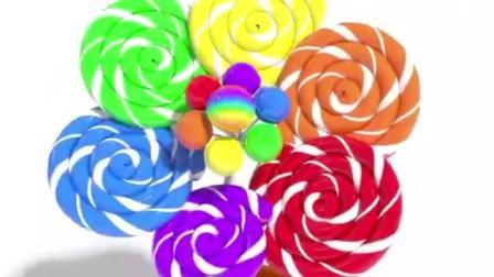 幼儿色彩启蒙: 3D彩虹棒棒糖小花盆栽