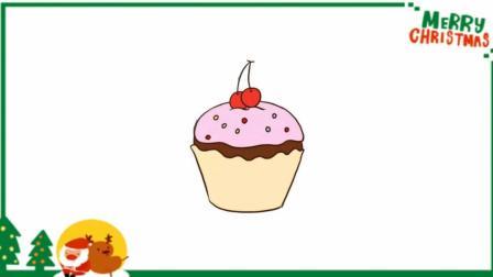 儿童简笔画学习 第一季 不会画画?教你这招蛋糕简笔画,为可爱加分