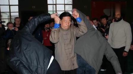 200斤壮汉竟挑战陈氏太极大师陈小旺, 连三秒都没坚持住
