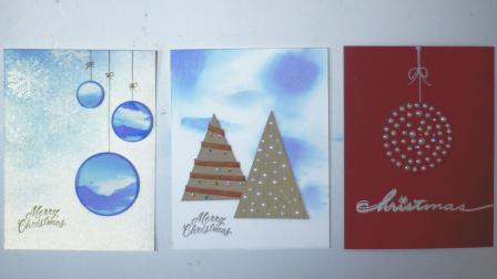 手工制作简介典雅2018圣诞贺卡 - 珍珠, 圣诞球, 圣诞树, 雪花