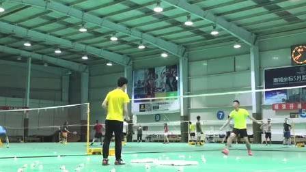 羽毛球业余训练, 这样练习, 你的前后步伐, 网前后场击球都会加强