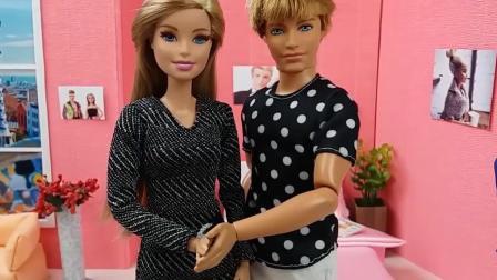 芭比为肯准备生日蛋糕