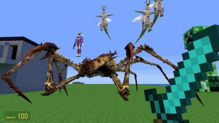 无敌的小函 我的世界 把奥特曼放到这么大的蜘蛛头上合适吗?