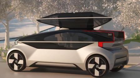 沃尔沃推出一款360c概念汽车, 无人驾驶没有方向盘, 睡觉还能开车