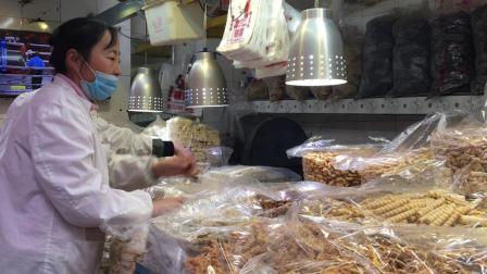 """实拍湖北老字号""""孝感麻糖""""店, 各式传统糕点、宫廷酥糖, 很多第一次见"""
