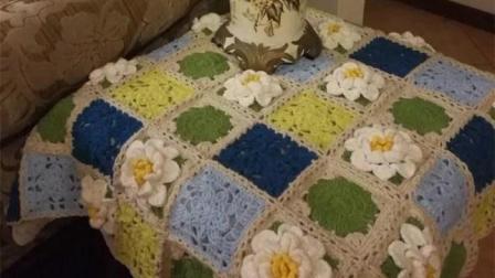 【金贝贝手工坊248辑】M150四季花毯夏荷毯(下)毛线钩针编织空调毯子宝宝编织款式