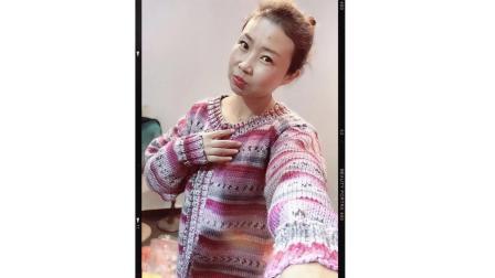 小辛娜娜编织2018第87集复古线毛衣外套开衫编织视频全集