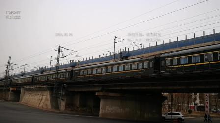 从北京开来的k45次, 通过小王庄桥, 开往天津西站