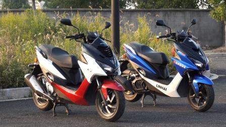 """「呆子测评」喜欢就""""将就"""", 金城草蜢200和林海175踏板摩托车骑士网摩托车测评"""
