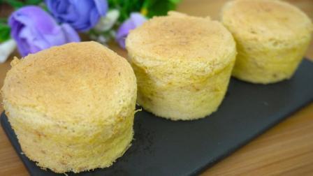 网红拔丝小蛋糕原来这么简单, 口味咸香有嚼劲, 吃一口便爱上!
