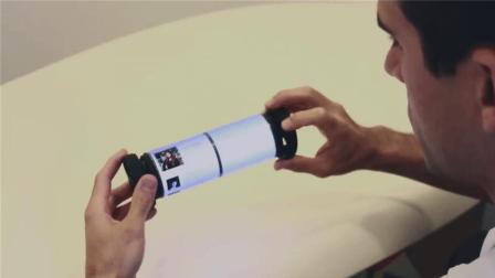 能卷起来的黑科技手机, 外形似卷轴, 屏幕无限旋转拉伸!