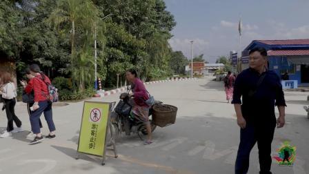 国界线两边的中缅两国人民, 细细的一条线, 两边生活却差别巨大