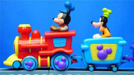 米奇妙妙屋米老鼠和唐老鸭的火车轨道玩具