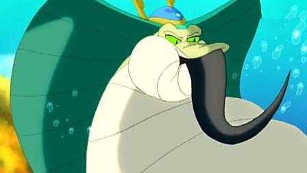 """小鲤鱼历险记: 赖皮蛇吃掉了自己的大表弟, 都是""""话多""""惹的祸!"""