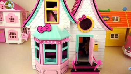 婴儿娃娃粉色房子和厨房套装玩具, 儿童玩具, 楚楚亲子游戏