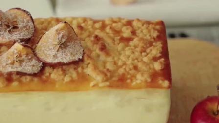 苹果芝士蛋糕制作过程, 不会的快来学学吧, 不学可惜了
