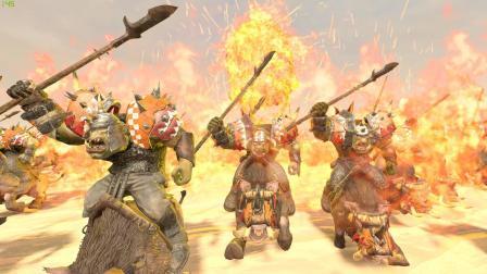 阿姆西解说《战锤全面战争2-绿皮直播档》14丨混沌三英, 三战灭之。神选虽强, 蛮荒不惧!