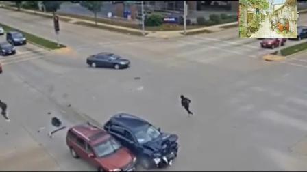 一群未成年的孩子, 无证驾驶, 还肇事逃逸被监控拍下
