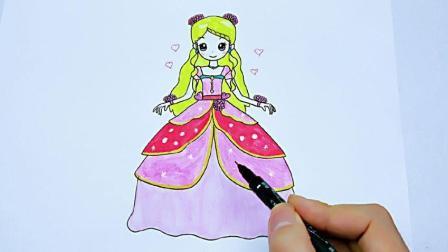 简单又漂亮叶罗丽公主卡通画, 画法详细又好看, 女生们很喜欢